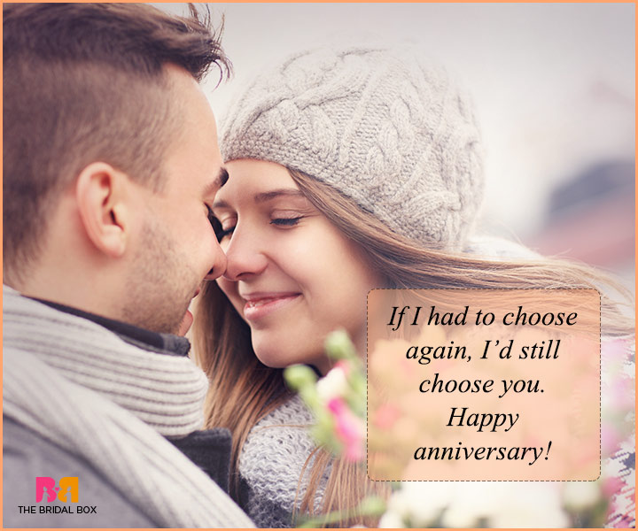 Love Quotes For Husband On Anniversary - I Choose You