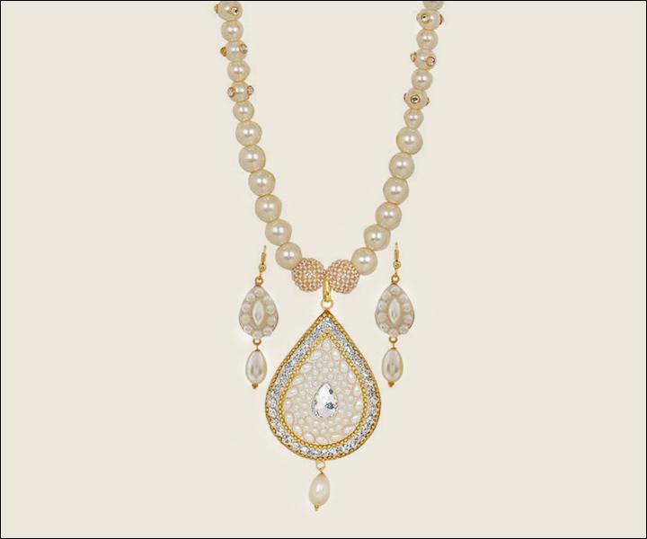 Wedding Necklace Designs - Antique Pearl Necklace