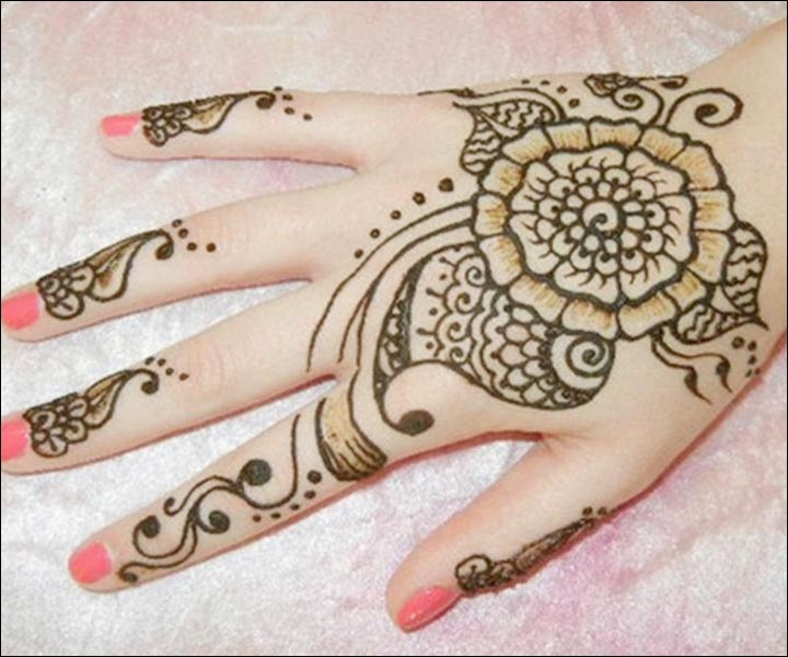 Simple Mehandi Designs - Basic But Beautiful