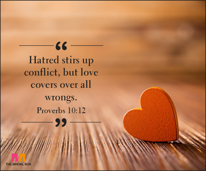 Bible Quotes On Love - Proverbs 10:12