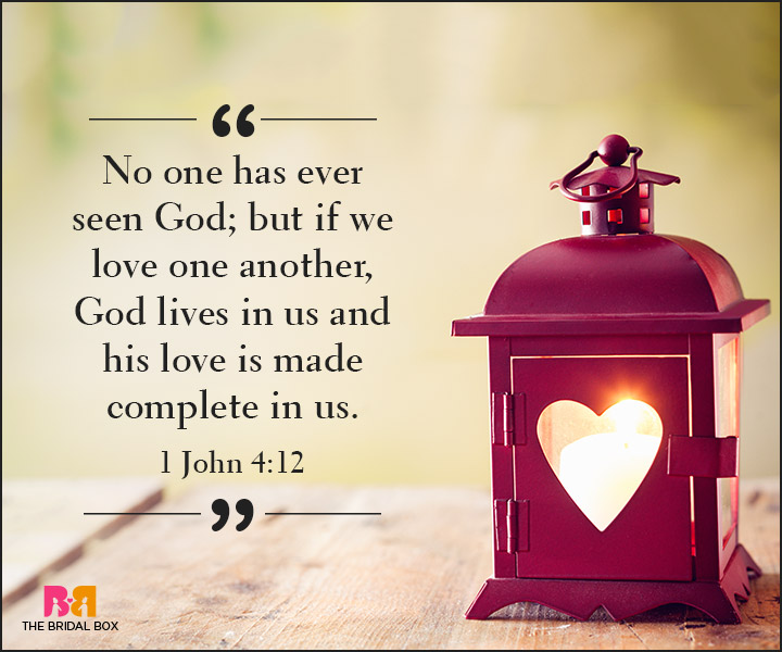 Bible Quotes On Love - I John 4:12