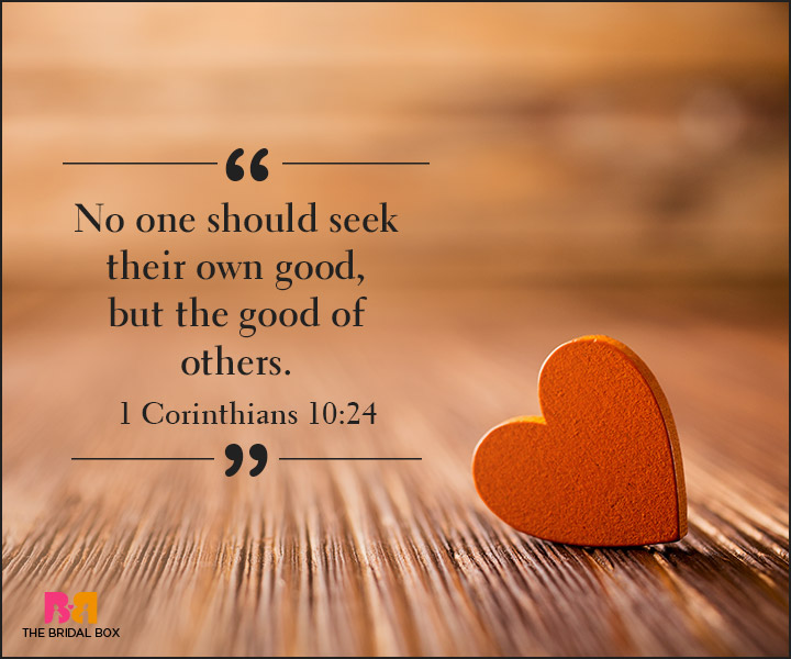 Bible Quotes On Love - I Corinthians 10:24
