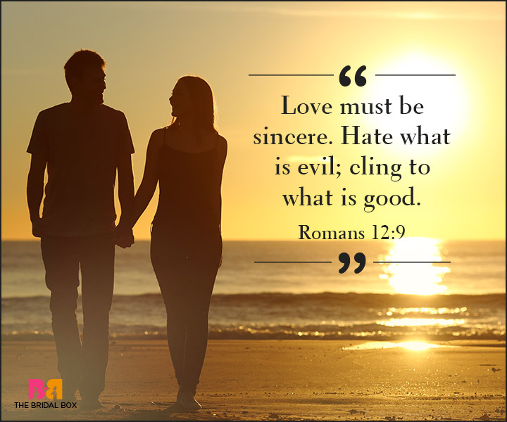 Bible Quotes On Love - Romans 12:9