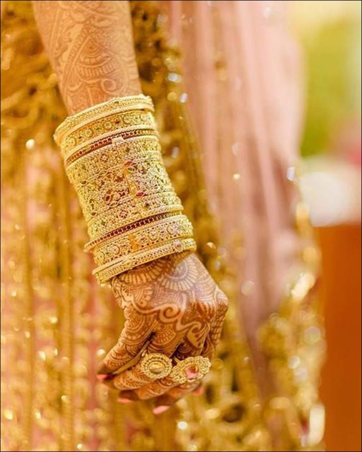 Bridal Bangles - Bold Gold Set