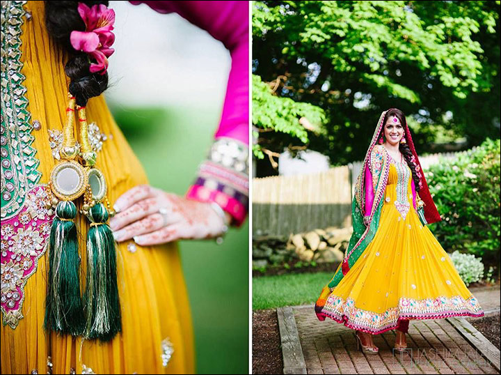 Bright-Yellow-Suit-mehndi dresses