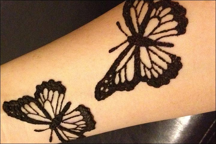 Simple Tattoo Designs Of Butterfly Flower