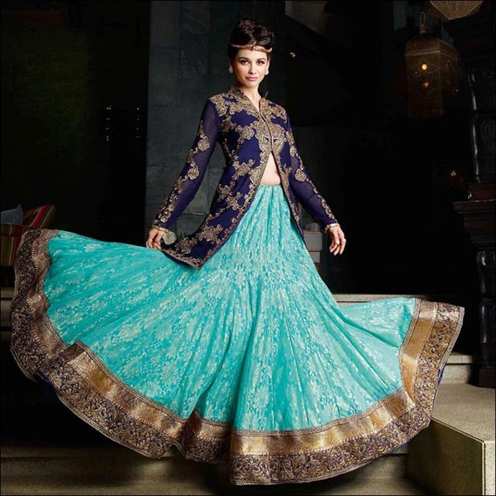 Chandelier Style Pleated Lehenga