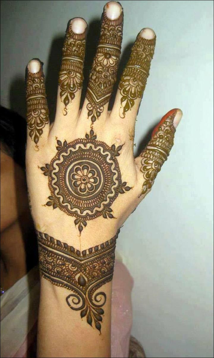 Latest mehndi designs 2016 2017 top 47 mehndi styles - Circular Illustration Uae Mehndi Design