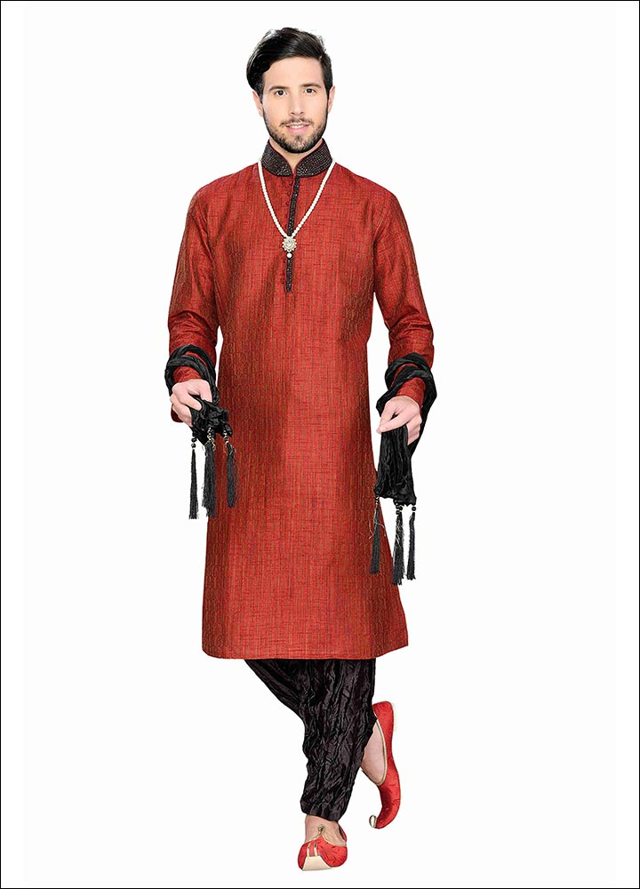 Indian Groom Dress Options - Classic Red Kurta