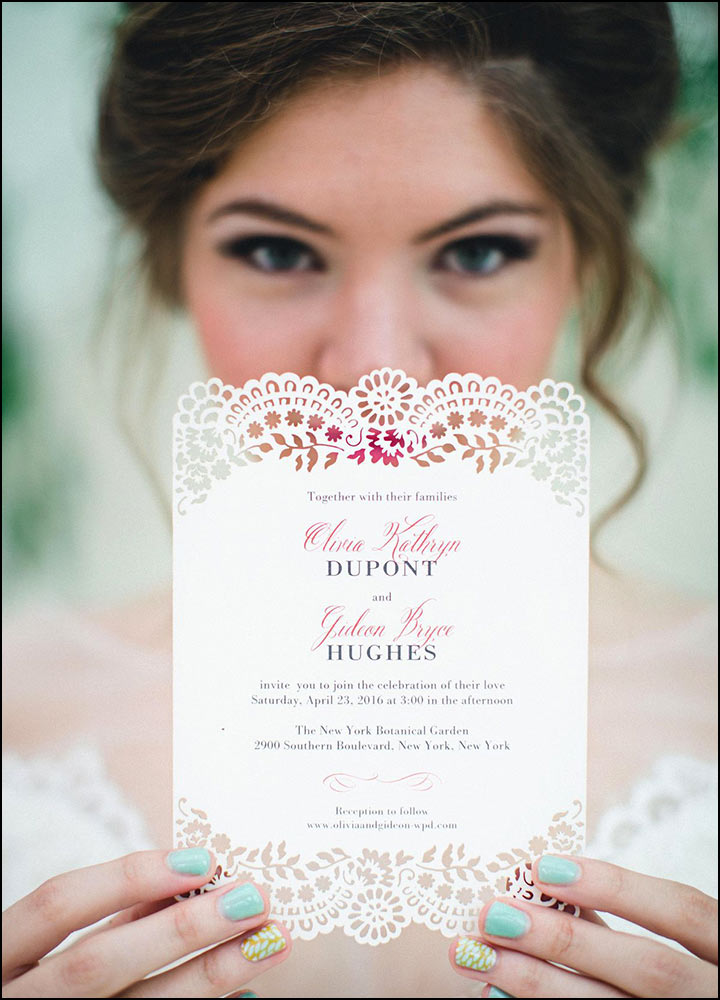 Laser Cut Wedding Invitations - Classic With A Twist