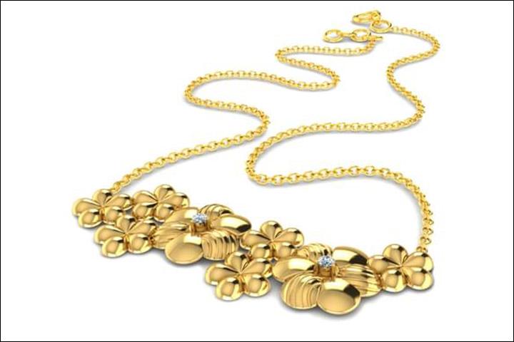 Wedding Necklace Designs - Clustered Floral Necklace
