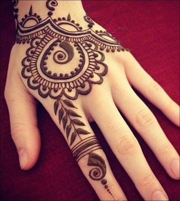 Simple Mehandi Designs - Contemporary Design