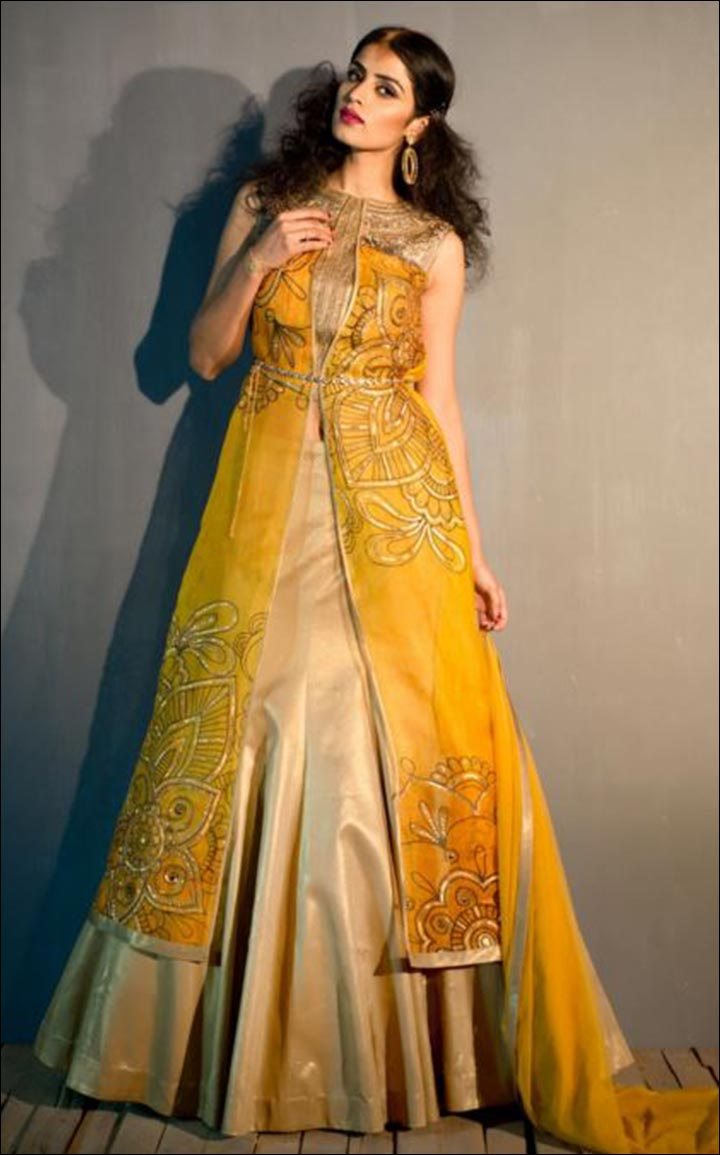 Indian Wedding Dresses - Contemporary Lehenga