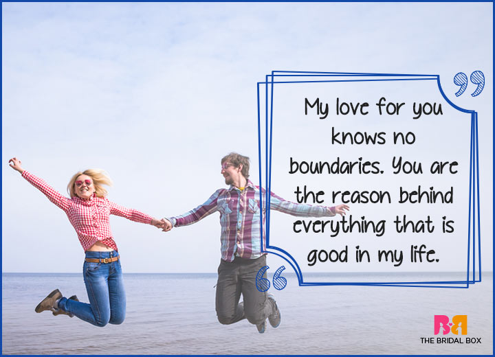 Cute Love Quotes - No Boundaries