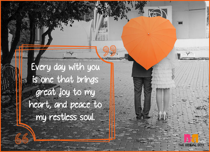 Cute Love Quotes - Peace To My Restless Soul
