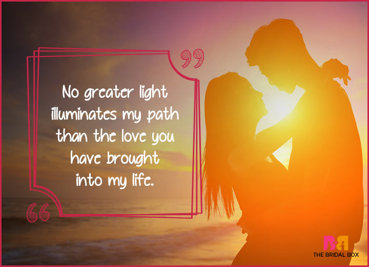 Cute Love Quotes - No Greater Light