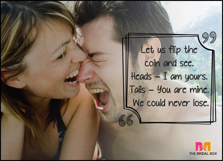 Cute Love Quotes - Let's Flip A Coin