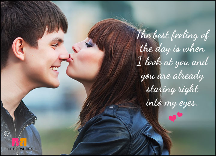 Cute Love Quotes For Him - Eye To Eye