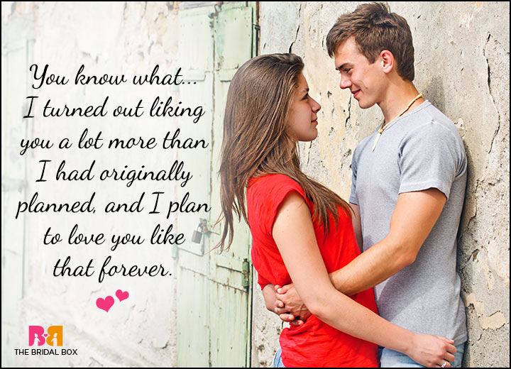 Cute Love Quotes For Him - I Planned On Forever