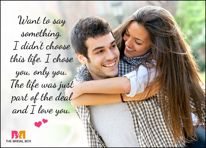 Cute Love Quotes For Him - I Choose You