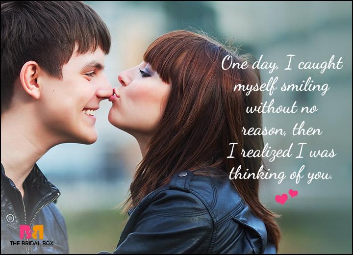 Cute Love Quotes For Him - I Was Thinking Of You