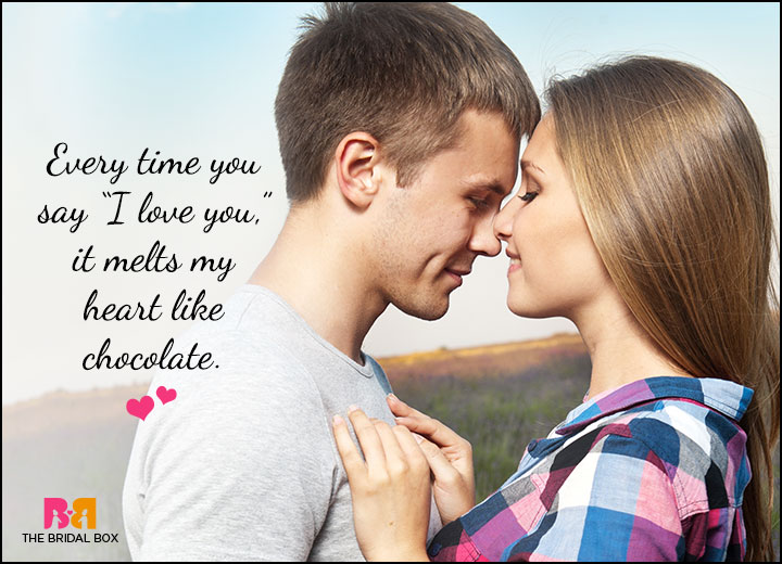 Cute Love Quotes For Him - Like Chocolate
