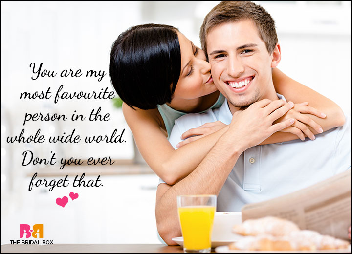 Cute Love Quotes For Him - My Favourite Person
