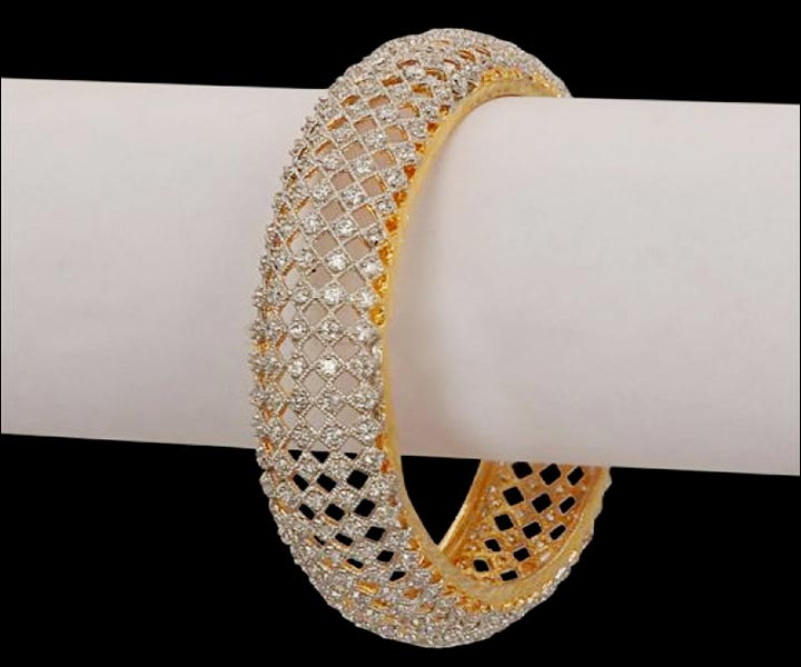 Bridal Bangles - Diamond Bridal Kada