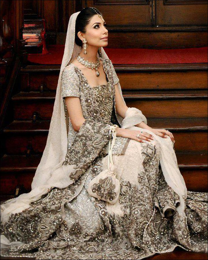 Indian Wedding Dresses - Embellished White Wonder
