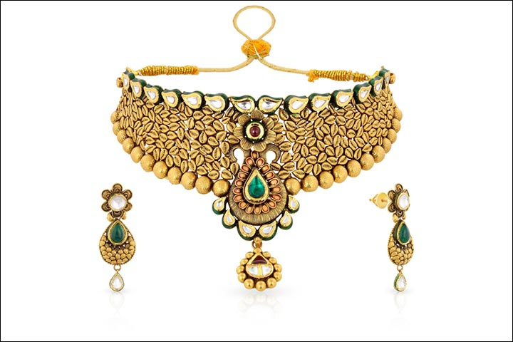 Bridal Gold Jewellery - An Exquisite Golden Choker