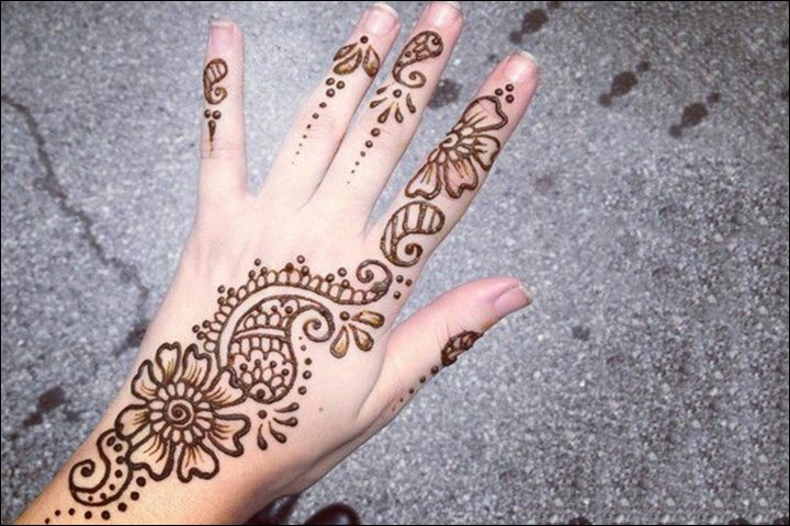 Back Side Flower Mehndi Design : Dubai mehndi designs that will leave you captivated