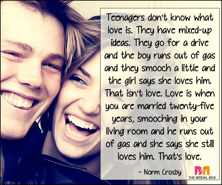 Funny Love Quotes - Norm Crosby
