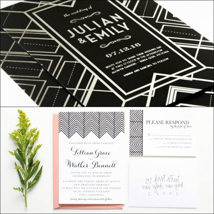 black and white wedding invitations 10 trendy black and white wedding invitations 1826
