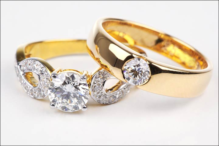 Engagement Rings For Couples - Gleaming Gold And Glistening Diamonds