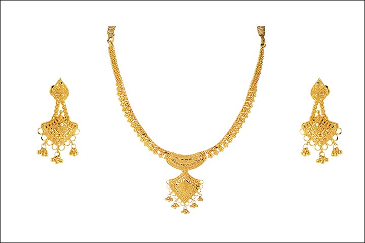 necklace brass earrings coin plated finish online jewellery fancy laxmi pendant gold img delicate temple handmade model