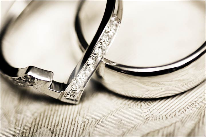 Engagement Rings For Couples - Gold Rings With Encrusted Diamonds