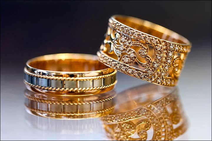 Engagement Rings For Couples - Golden Resplendence