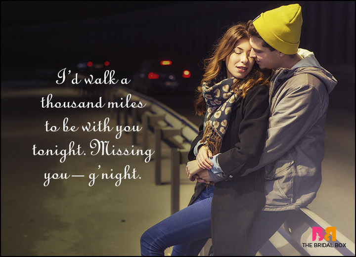 Good Night Love Quotes - A Thousand Miles