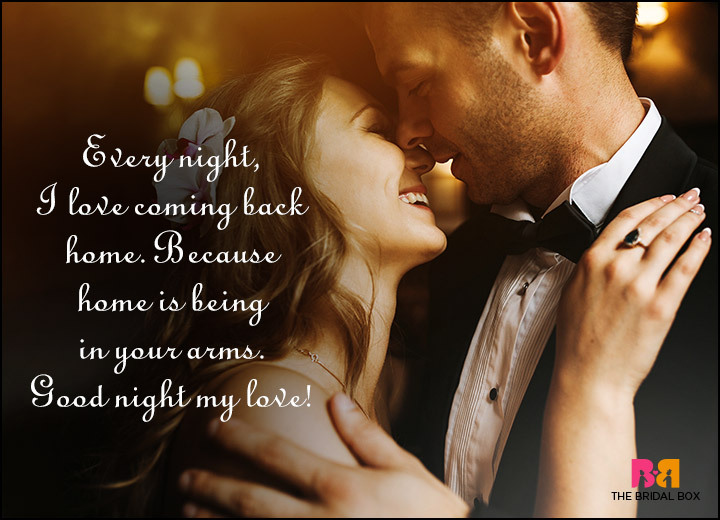 Good Night Love Quotes - Home Is In Your Arms