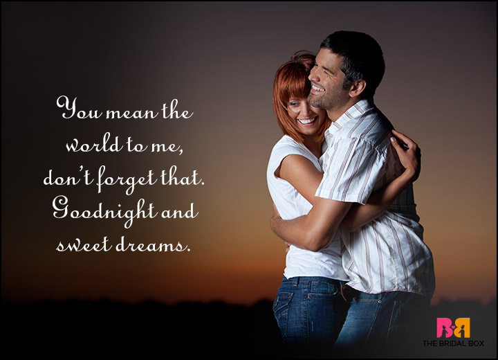 Good Night Love Quotes - You Mean The World