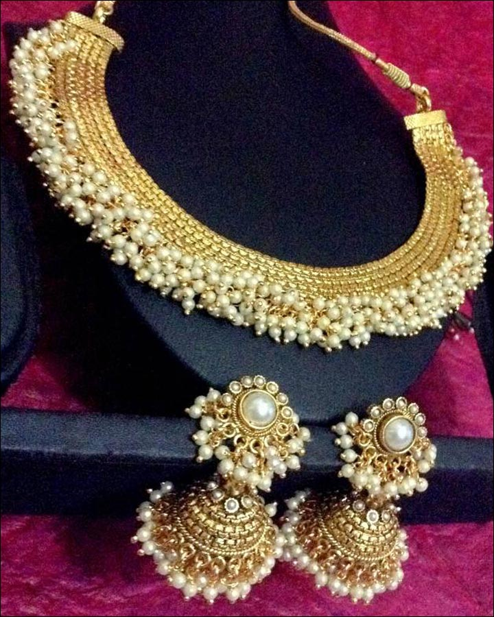 Artificial Bridal Jewellery Sets - The Pearl Gutta Pusalu