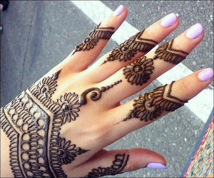 Simple Mehandi Designs - Hand Harness