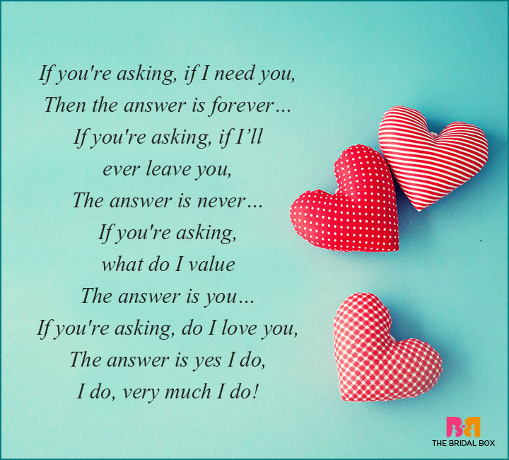 How Much I Love You Poems - The Answer Is You