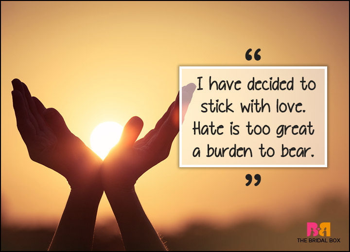 Inspirational Love Quotes - Too Great A Burden