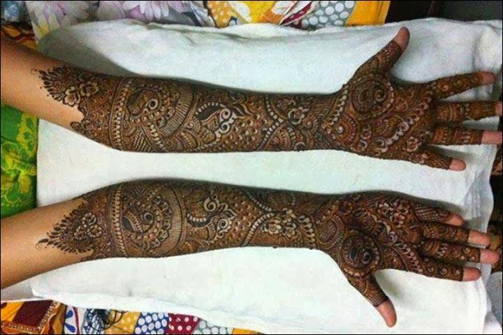 Rajasthani Bridal Mehndi Designs For Full Hands - Intricate Artwork