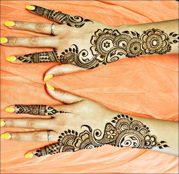 Dubai Mehndi Designs - Irregular Efflorescent Pattern