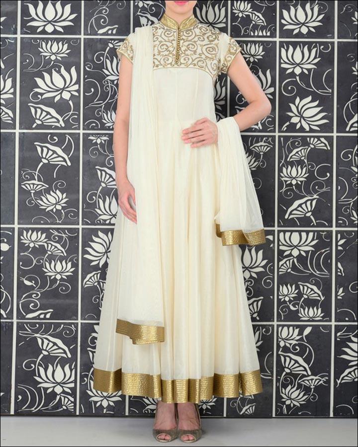 Bridal Suits - The Ivory Anarkali Suit
