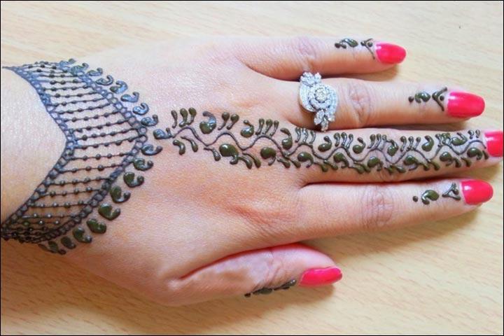 Simple Mehandi Designs - Jewel Design
