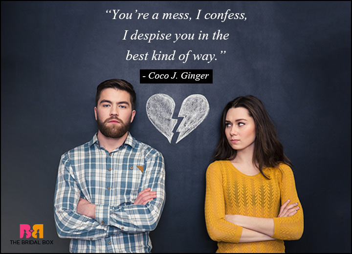 Love Hate Relationship Quotes - A Mess