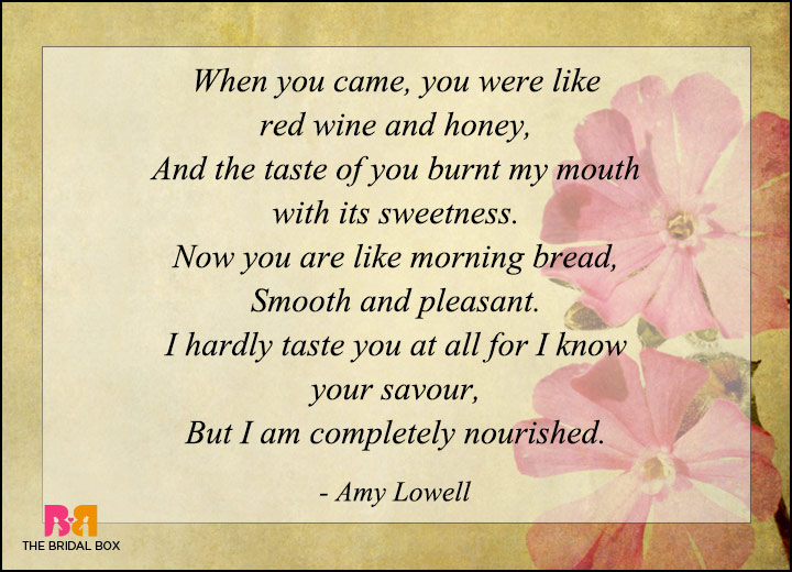 Love Poems By Famous Poets - Amy Lowell